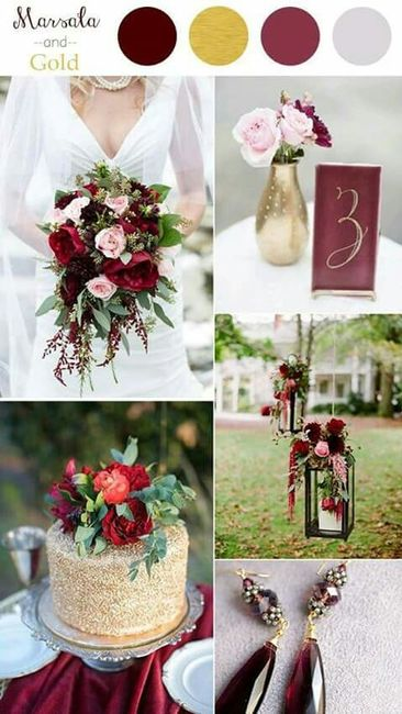 boda en color vino tinto !!