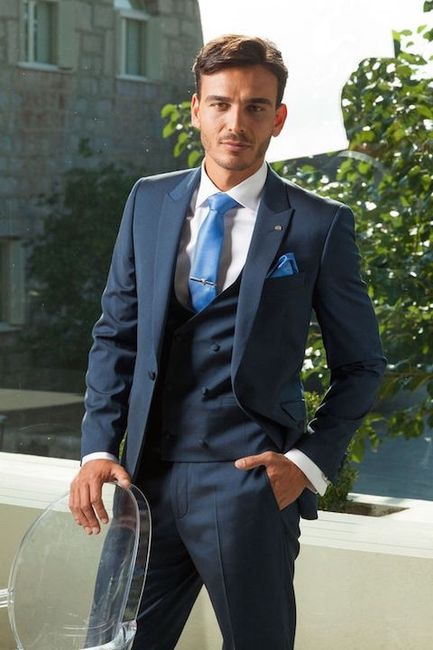 vestido de novio en azul