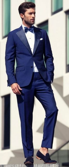 vestidos de novio azul