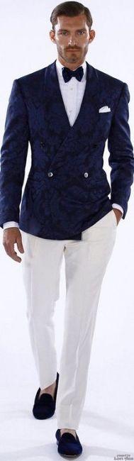 858ad9831 Matimonio en blanco y azul rey - traje novio