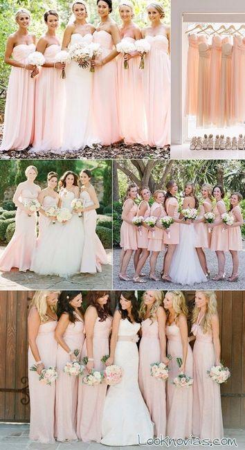 bcb57a803c5 Colores de vestidos damas de honor