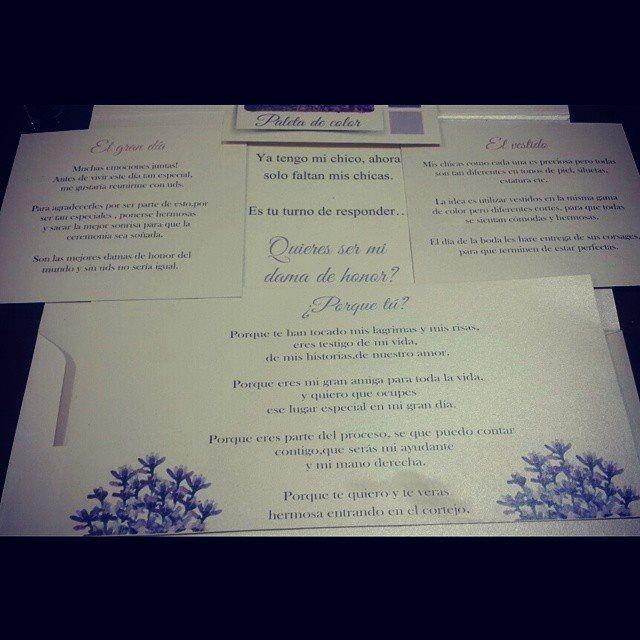 55d20ed12 Invitaciones para las damas de honor