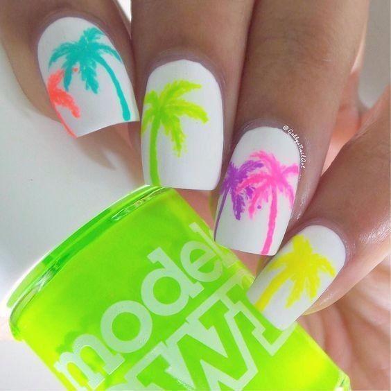 Diseños uñas temáticas ~sol, playa y arena~