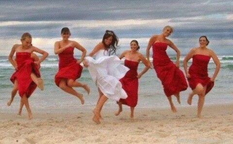Vestidos dama de honor en la playa