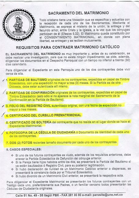 Matrimonio Catolico Requisitos Peru : Requisitos para el sacramento del matrimonio