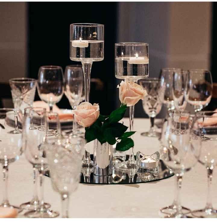 Centros de mesa con poco uso de flores naturales - 2
