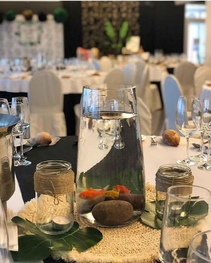 Centros de mesa con poco uso de flores naturales - 5