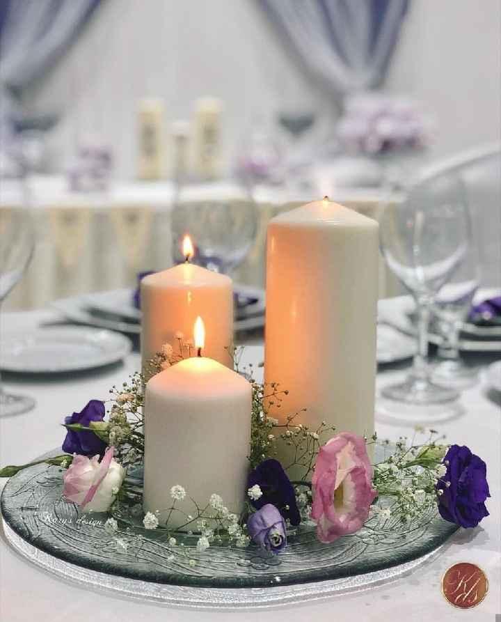 Centros de mesa con poco uso de flores naturales - 6