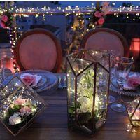 Centros de mesa con poco uso de flores naturales - 1