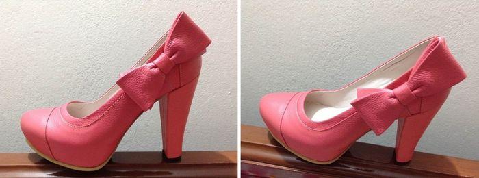mis zapatos salmón/coral