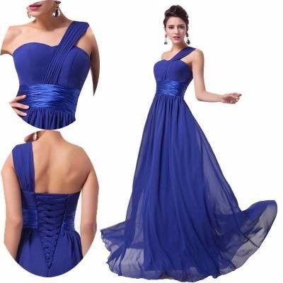 Vestidos para damas de honor en azul rey