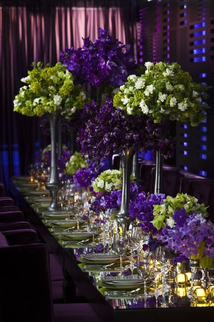 Centros de mesa glam en gama de verdes - Gama de verdes ...