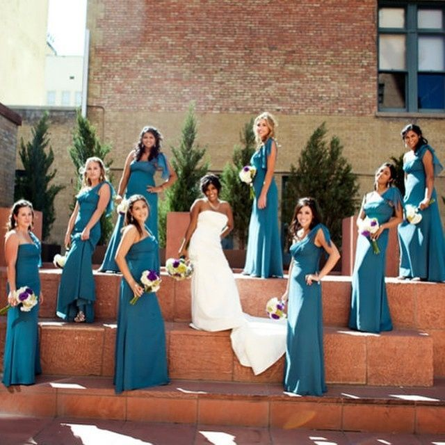 Vestidos para damas de honor morenas