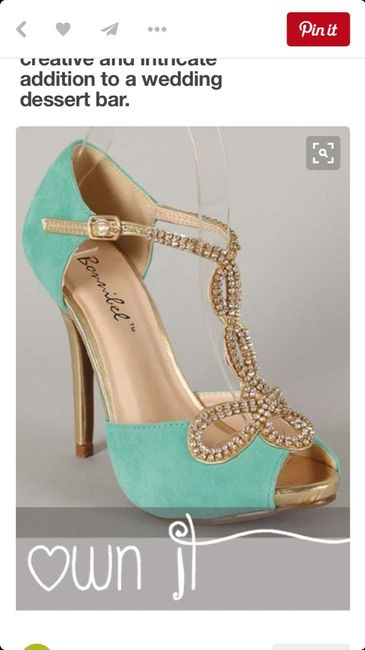 zapatos color turquesa