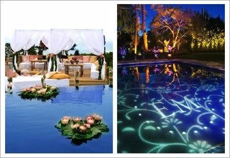 Decoraci n lugar de boda la piscina - Decoracion de piscinas ...