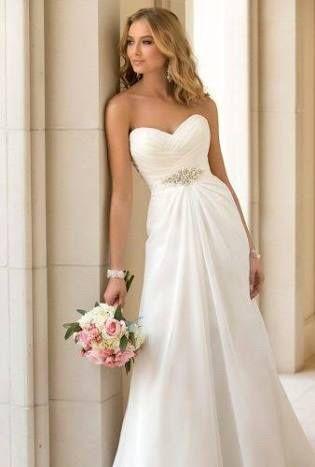 Peinados para vestido strapless de novia