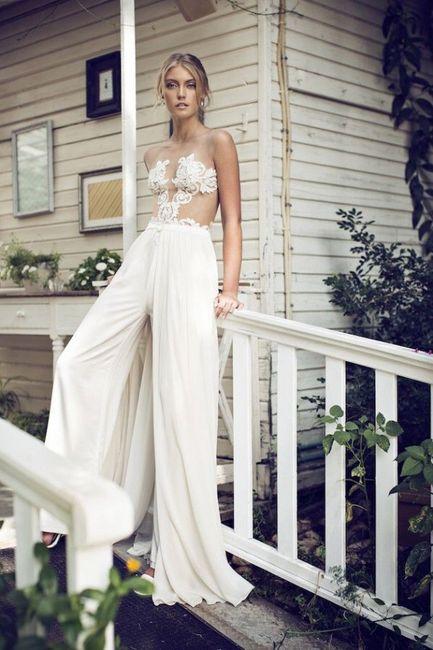 Vestidos de novia de pantalon