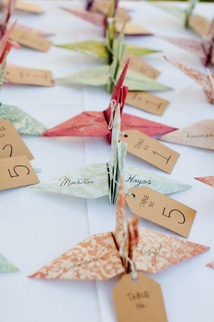 Decoracion Origami Matrimonio ~ Decoracion con origami
