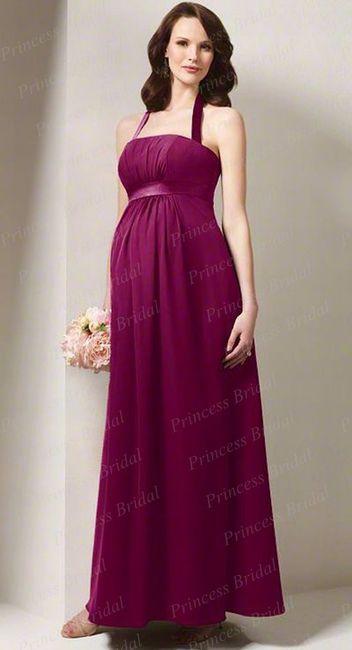 Increíble Vestidos De Dama Embarazadas Adorno - Vestido de Novia ...