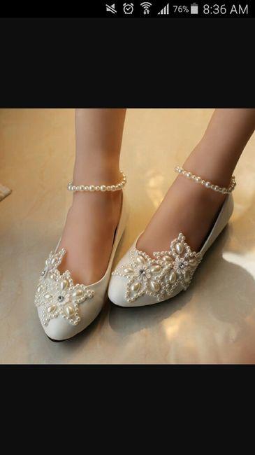 zapatos bajos para la boda