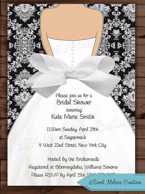 invitaciones para tu shower de novia