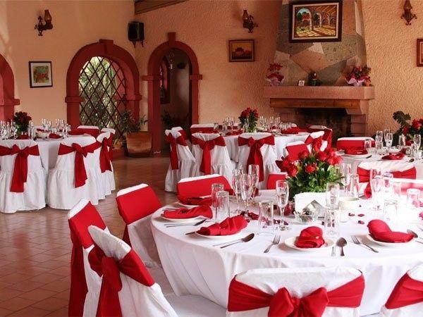 Decoracion de boda color rojo for Decoracion 40 aniversario de bodas