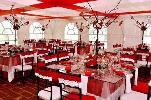decoracion de boda color rojo