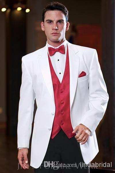 traje de novio rojo