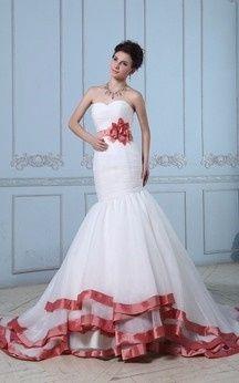 Vestidos blanco con rojo para boda