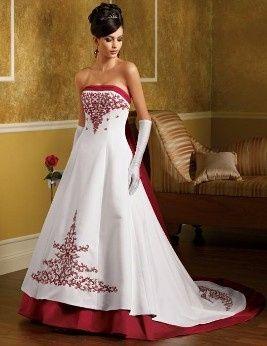 Vestidos de novia con algo rojo