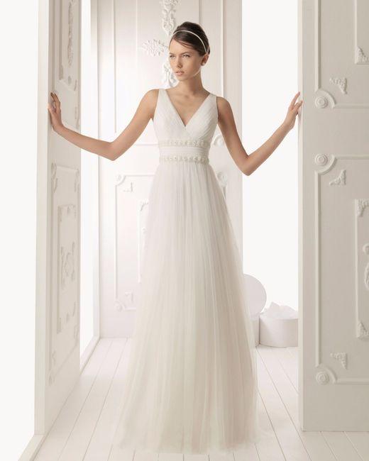 Vestido de novia: corte imperio