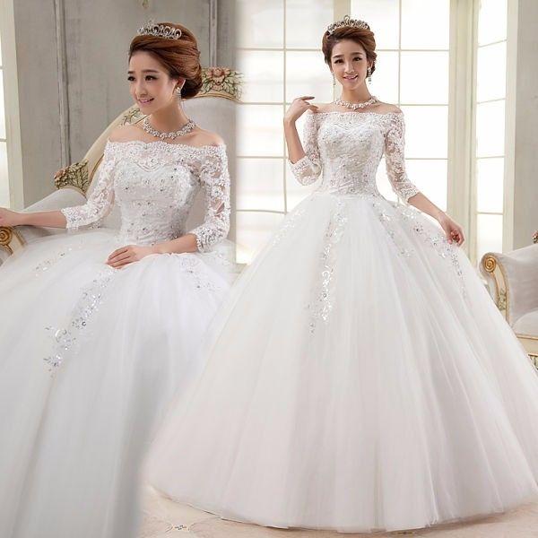 Vestidos de novia corte princesa 2015