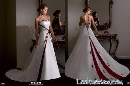 Vestidos de boda en rojo y blanco
