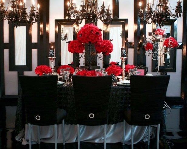 decoración en blanco, negro y rojo, parte 1