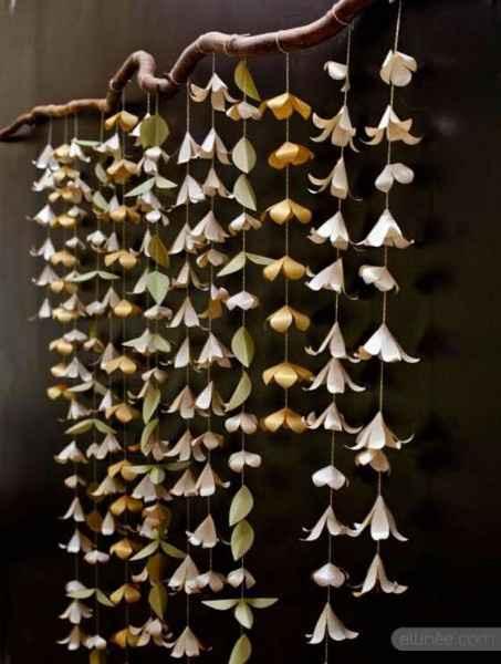 Flores en papel para cortina para decoración o fondo de fotos
