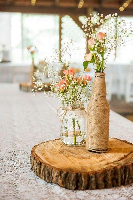 Centros de mesa boda estilo r stico for Centro de mesa rustico