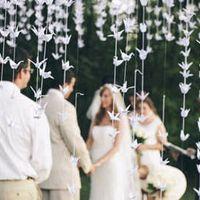 Grullas para la decoración en la boda