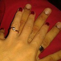 ¿cómo son sus anillos de compromiso? - 1
