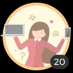 Blogger (20). ¡Ya creaste 20 debates! Internet es tu medio para compartir ideas y dudas con los demás. Presume con esta medalla de ser un auténtica blogger.
