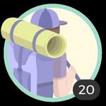 Aventurera (20). Tu espíritu aventurero no conoce límites. Participaste en 20 debates así que ya puedes lucir este bonito emblema.